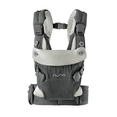 Front view of Nuna cudl™ Baby Carrier in Granite