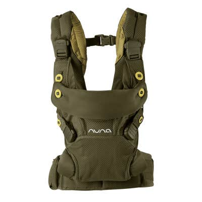 Front view of Nuna cudl™ Baby Carrier in Olive