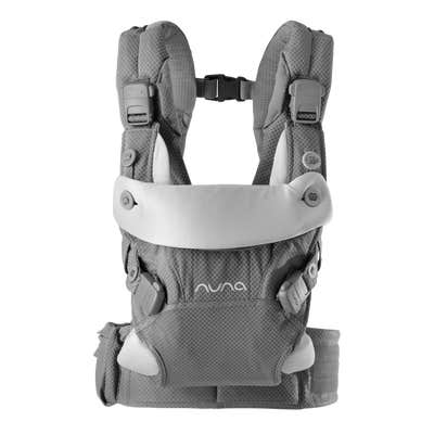Front facing view of Nuna cudl™ Baby Carrier in Slate