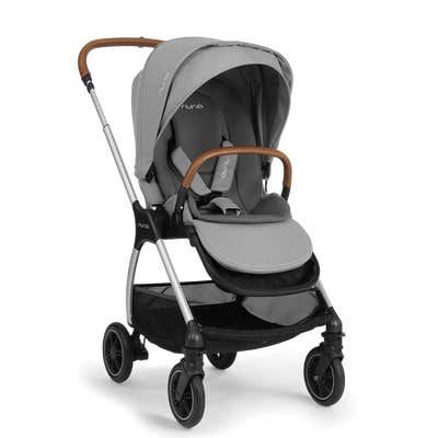 Side angle of Nuna triv™ stroller in Frost