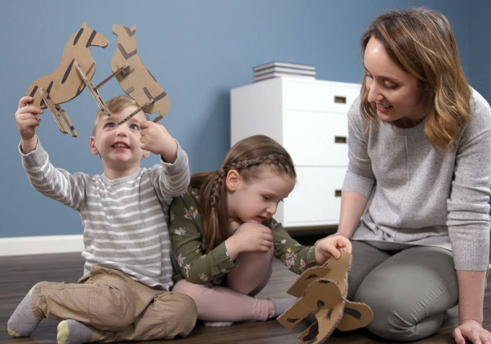 animal cardboard cutout instruction step 6