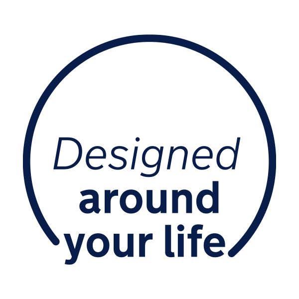 """Nuna """"designed around your life"""" logo"""