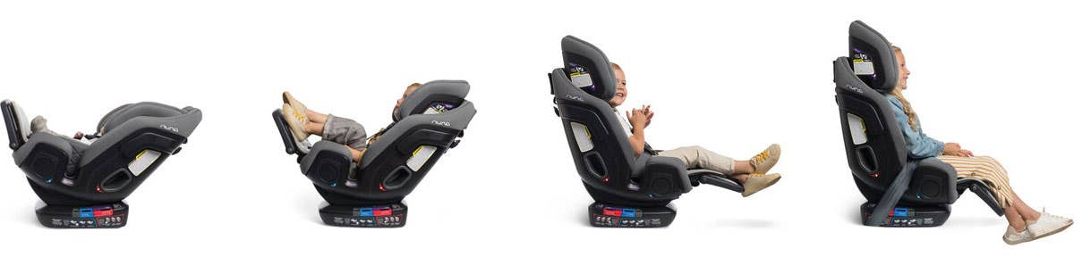 Nuna EXEC™ car seat positions