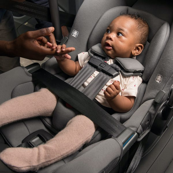Baby in Nuna PIPA rx carseat